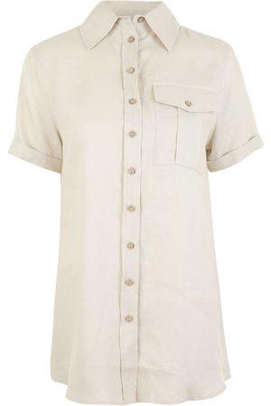 RESIDUS Pine linen shirt