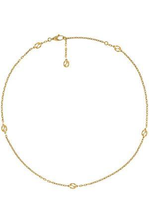 Gucci Kvinna Halsband - Halsband i 18K gult med logotyp
