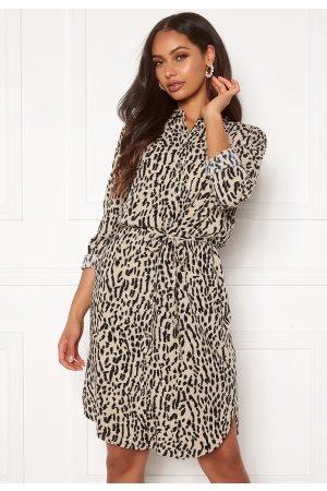 Object Bay L/S Shirt Dress Humus AOP New Animal 40