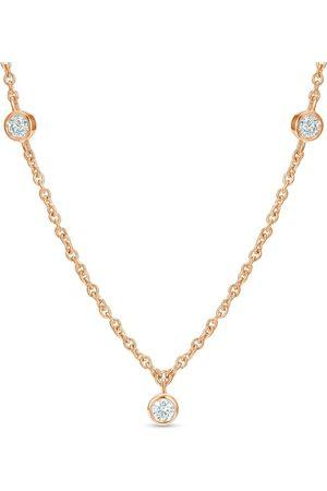 De Beers Clea kort diamanthalsband i 18K rosé