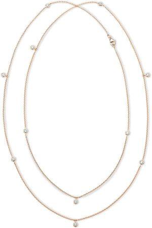 De Beers Clea långt diamanthalsband i 18K rosé