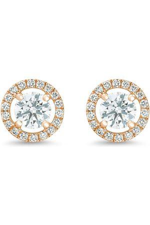 De Beers Aura diamantörhängen i 18K roséguld