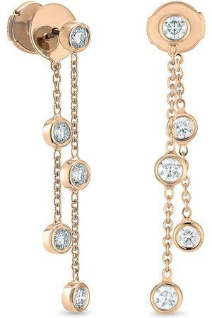 De Beers Clea diamantörhängen i 18K rosé
