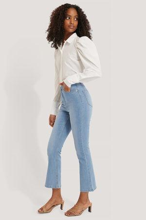 NA-KD Kvinna Bootcut - Utsvängda Jeans I Skinny Modell