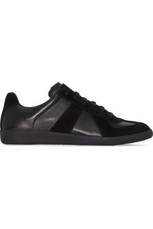 Maison Margiela Black Replica leather sneakers