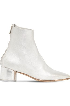 MM6 MAISON MARGIELA 45mm Metallic Leather Ankle Boots