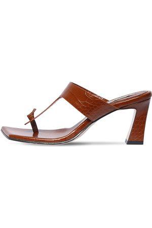 Reike Nen 70mm Croc Embossed Leather Sandals