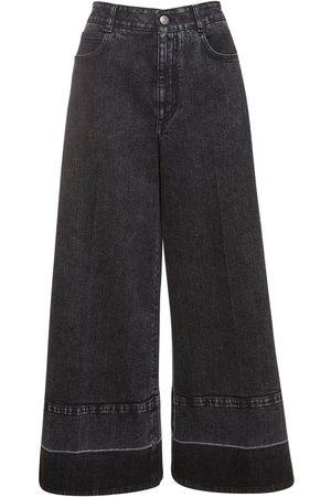 Stella McCartney Crop Eco Denim Wide Leg Jeans