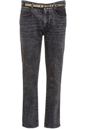 Stella McCartney Eco Denim Skinny Boyfriend Jeans W/ Belt