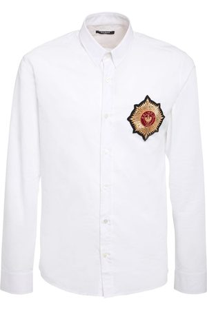 Balmain Cotton Shirt W/ Embroidered Patch