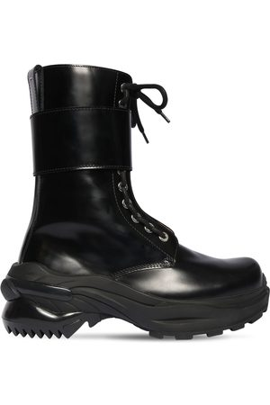 Maison Margiela 50mm Brushed Leather Combat Boots