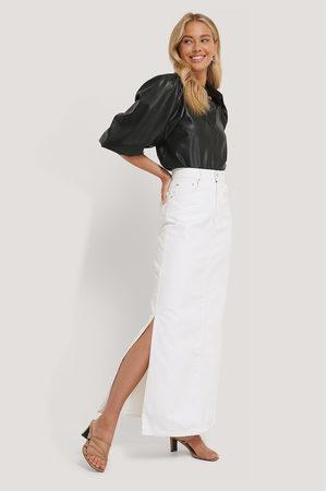 NA-KD Side Split Maxi Denim Skirt