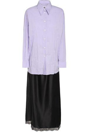 MM6 MAISON MARGIELA Convertible Poplin & Satin Long Dress