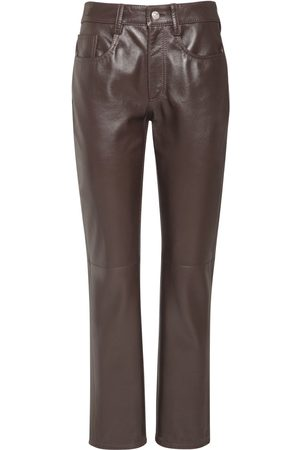 MM6 MAISON MARGIELA Kvinna Skinnbyxor - Leather Straight Pants