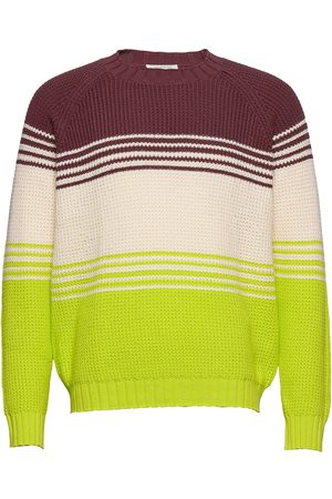 WoodWood Gunther Sweater Stickad Tröja M. Rund Krage Multi/mönstrad