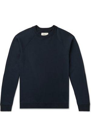 Folk Man Sweatshirts - Rivet Garment-Dyed Loopback Cotton-Jersey Sweatshirt