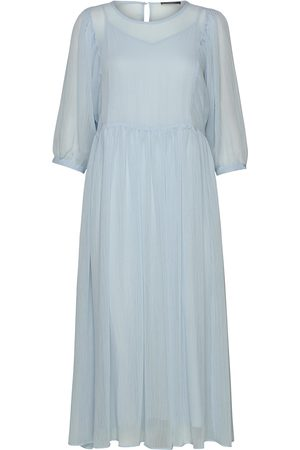 Bruuns Bazaar Cloudy Lux Dress Knälång Klänning