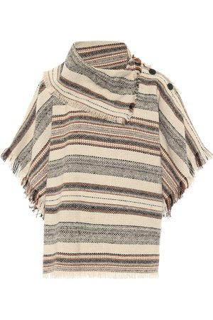 Isabel Marant Jacoya striped tweed poncho
