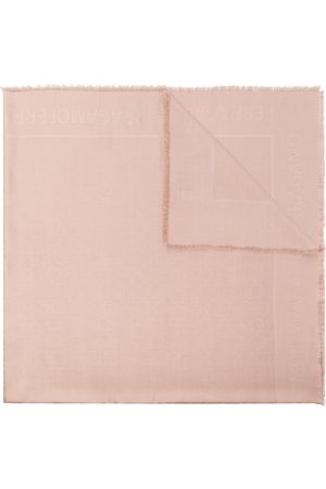 Salvatore Ferragamo Gancini silk and wool-blend scarf