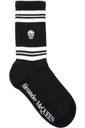 Alexander McQueen Skull Cotton Blend Socks