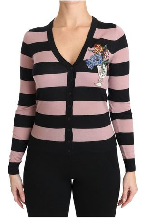 Dolce & Gabbana Floral Cashmere Cardigan Sweater