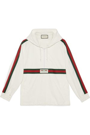 Gucci Cotton canvas windbreaker with label
