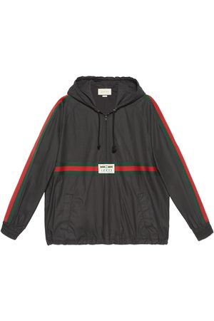 Gucci Coated cotton windbreaker with label
