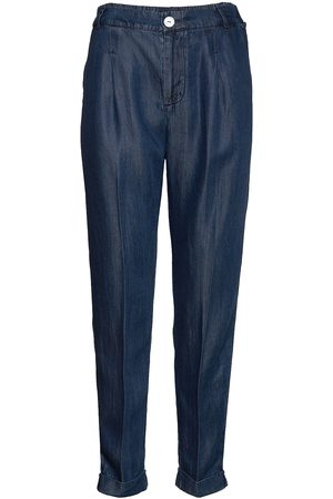 Scotch&Soda Chino Pant In Drapey Tencel Indigo Quality Chinos Byxor