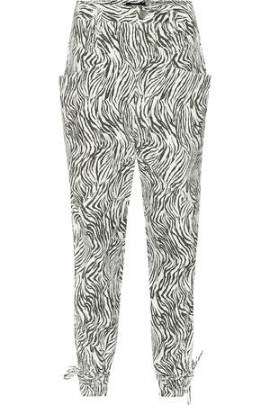 Isabel Marant Kvinna Skinnbyxor - Badeloisa zebra-print leather pants