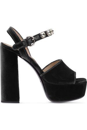 Miu Miu Crystal-embellished 130mm sandals