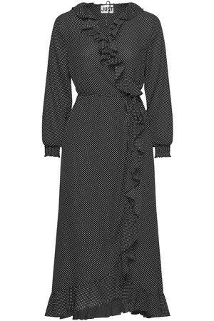 Just Female Niro Maxi Wrap Dress Maxiklänning Festklänning