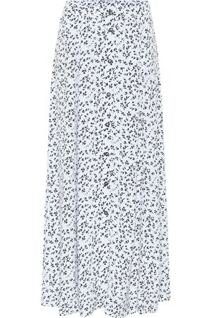 Ganni Kvinna Mönstrade kjolar - Printed high-rise crêpe midi skirt