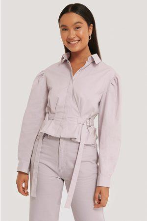 NA-KD Kvinna Casual - Oversize Skjorta Med Markerad Midja