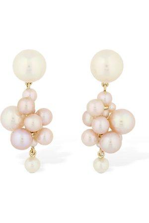 SOPHIE BILLE BRAHE Botticelli Rose Pearl Earrings