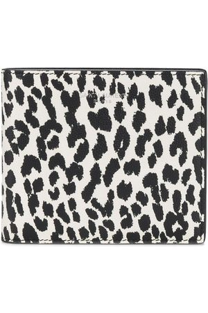 Saint Laurent Leopardmönstrad läderplånbok