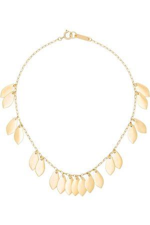 Isabel Marant Kvinna Halsband - Gold tone leaf chain necklace