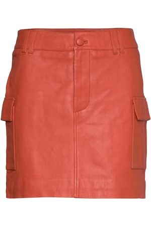Iben Kvinna Minikjolar - Josh Skirt An Kort Kjol Orange