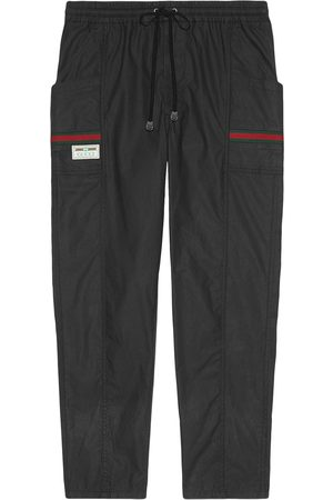 Gucci Web-embellished tapered track pants