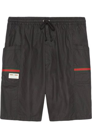 Gucci Web-embellished knee-length shorts
