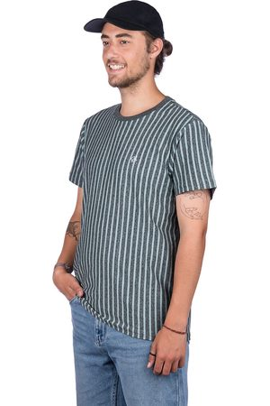 Huf Overdyed Vert Stripe T-Shirt harbor grey