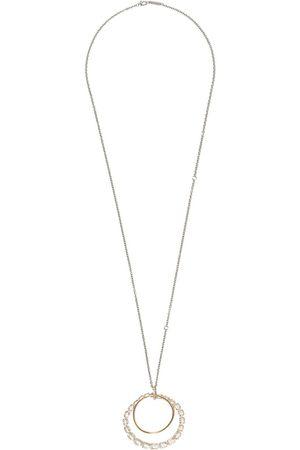 Brumani Looping Shine halsband i 18K roséguld med kvarts och diamant