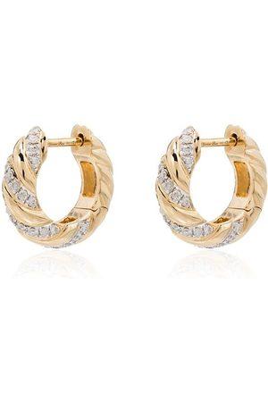 YVONNE LÉON örhängen i 18K gult guld med diamant