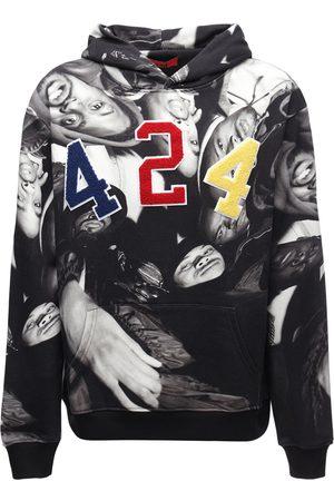 424 FAIRFAX Wu-tang Print Cotton Sweatshirt Hoodie