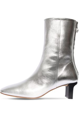 Aeyde 55mm Tilly Metallic Leather Ankle Boots