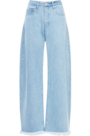 MARQUES'ALMEIDA Kvinna Bootcut - High Waist Cotton Denim Wide Leg Jeans