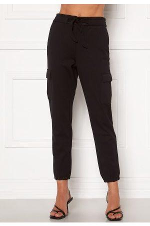 Only Kvinna Cargobyxor - Poptrash Life Cargo Belt Pants Black XS/32
