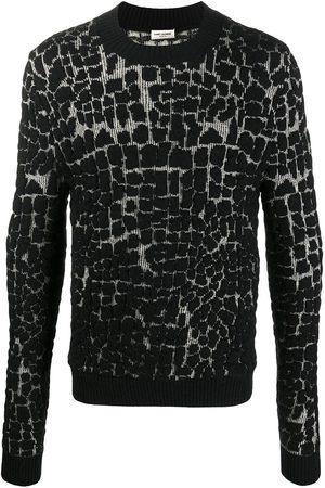 Saint Laurent Mosaic-effect jumper