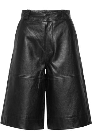 Ganni Lamb Leather Leather Leggings/Byxor