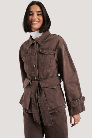 NA-KD Belted Denim Jacket