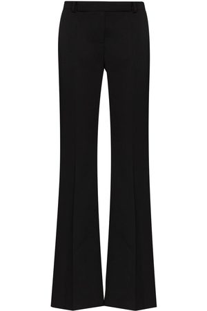 Alexander McQueen Front crease tailored wool trousers